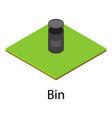 bin icon isometric style vector image