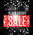 black friday advertising banner with bokeh vector image vector image
