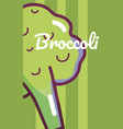 broccoli vegetable cartoon vector image