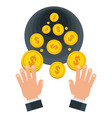 businessman wasting coins vector image vector image
