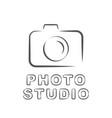 camera icon flat photo isolated vector image