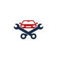 car fix and repair logo icon design vector image