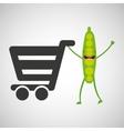 concept market buy peas vector image vector image