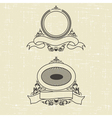 contour heraldic emblem vector image vector image