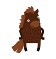 Cute cartoon horse farm animal mammal character vector image vector image