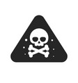 danger sign with skull bones blank and white vector image