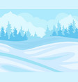 day in winter forest snowy landscape with fir vector image vector image