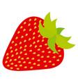 delicious strawberry fruit icon vector image vector image