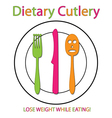 Dietary Cutlery vector image