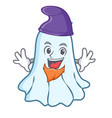 elf cute ghost character cartoon vector image vector image