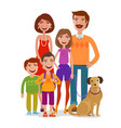 family portrait happy people children parents vector image vector image