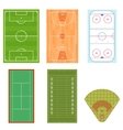 Fieldes Set Isometric View vector image vector image