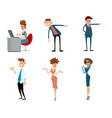 funny business characters in action vector image vector image