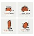 Funny hedgehog logo set for your design vector image vector image
