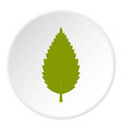 green hornbeam leaf icon circle vector image vector image