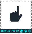Hand cursor icon flat vector image vector image