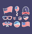 happy flag day american symbolism colorful banner vector image vector image