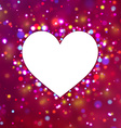 Heart shape with sparkles vector image