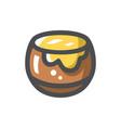 honey pot sweet dessert icon cartoon vector image