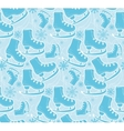 Ice skates pattern vector image