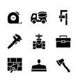 icon set constructionrepair in flat style vector image vector image