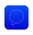 information icon blue vector image vector image