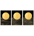 japanese background with gold texture in circle vector image vector image