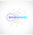 live music emblem classical guitar icon vector image vector image