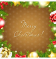 Merry Christmas Wallpaper vector image vector image