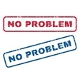 No Problem Rubber Stamps vector image vector image