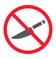 no sharp glyph icon prohibition and forbidden vector image vector image