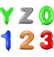 Number and alphabet vector image vector image