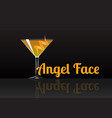 official cocktail icon the unforgettable angel vector image vector image