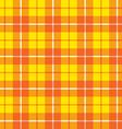 orange yellow tartan fabric texture pattern vector image vector image