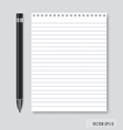 Pen and Paper ready for your text vector image vector image
