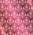 Pink Background With Round Medieval Ornament vector image