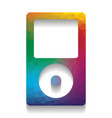 portable music device colorful icon with vector image vector image