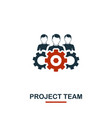 project team icon premium style design from vector image vector image