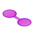 purple glasses icon isometric style vector image vector image