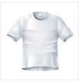 realistic wrinkled t shirt white mockup vector image