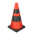 red black road cone icon isometric style vector image