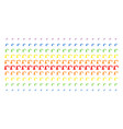 robotics manipulator shape halftone spectral array vector image
