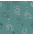 Seamless pattern with hand-drawn houses vector image vector image