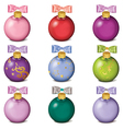 set colorful christmas balls isolated on white vector image vector image
