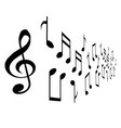 set musical notes icons isolated on white vector image vector image