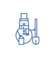 snowman line icon concept snowman flat vector image vector image