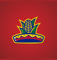 sombrero hat corn mexican restaurant logo sticker vector image