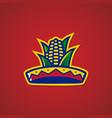 Sombrero hat corn mexican restaurant logo sticker