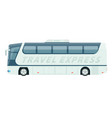 spacious comfortable white travel express bus vector image vector image