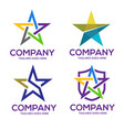 star icons and logos collection vector image vector image